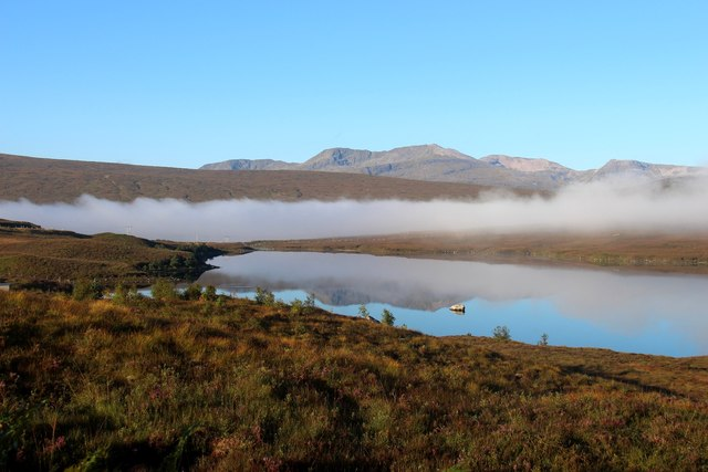 Ben More Assynt reflected in Loch a' Ghriama