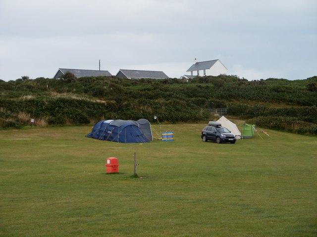 Camp site at  Nant-y-big