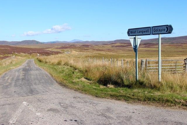 Crossroads north of Rogart