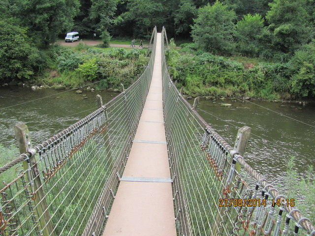 Forestry Commission Suspension Bridge over Wye River