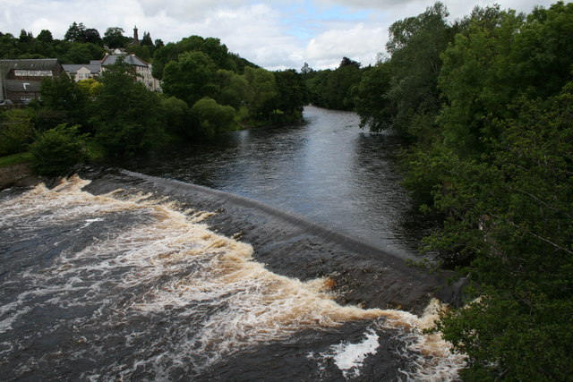 River Ericht from the bridge, Blairgowrie