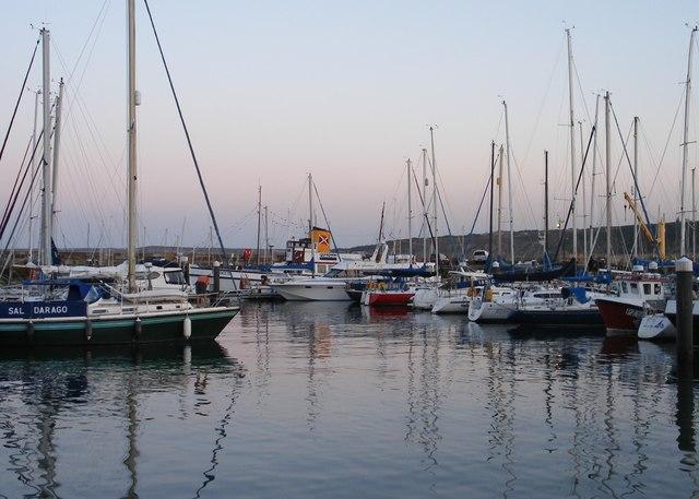 Yachts at the Albert Strange pontoons.