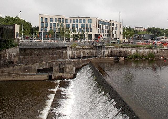 River view of Merthyr Tydfil College