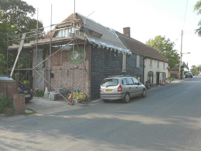 Progress of building work to Preston Village Stores, The Street