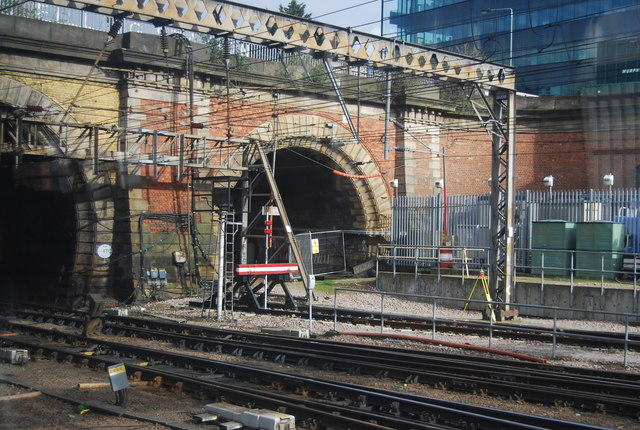 Rail tunnel, south portal
