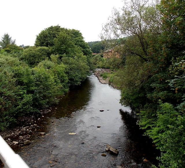 Taff upstream from the A4102, Merthyr Tydfil