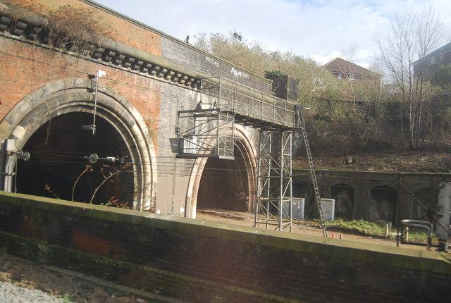Railway tunnel, south portal
