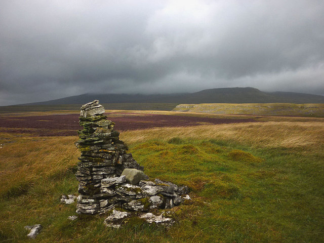 Old cairn above Moughton Scars