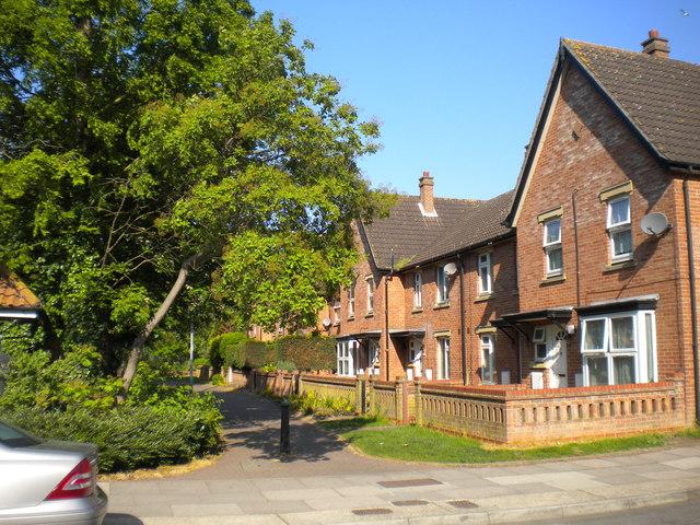Houses off Portman Road, Ipswich