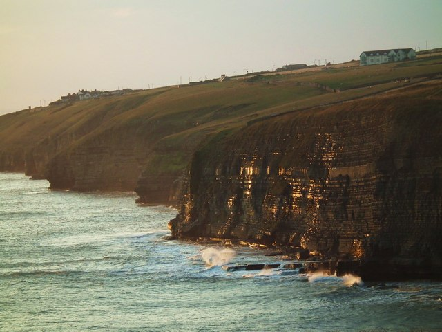 Southerndown cliffs at sunset