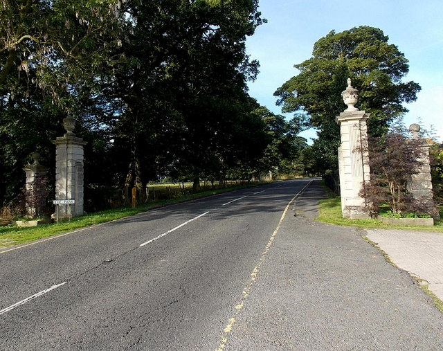 Gate piers at the eastern entrance to Bosworth Park, Market Bosworth