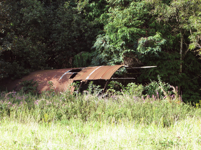 The shell of an old Nissen hut