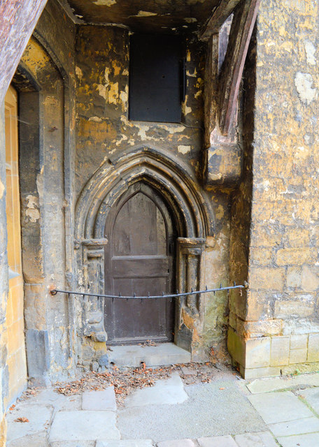 13th century doorway, Gloucester Cathedral close