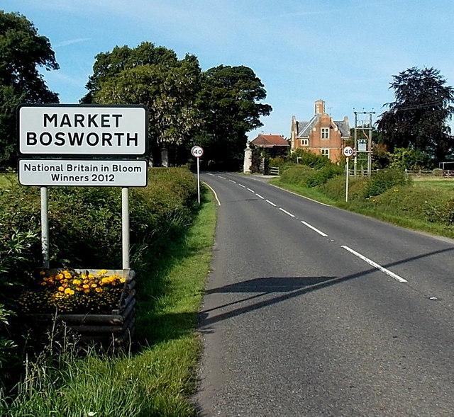 Eastern boundary of Market Bosworth