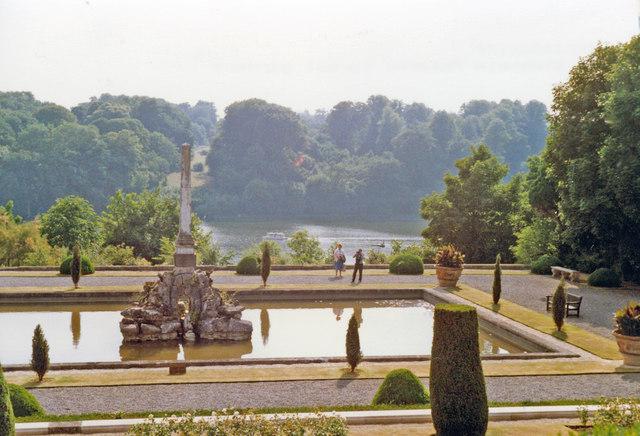 Blenheim Palace, water terraces 1989