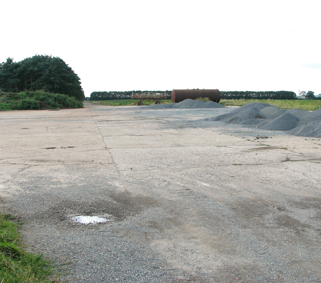 Remains of a runway