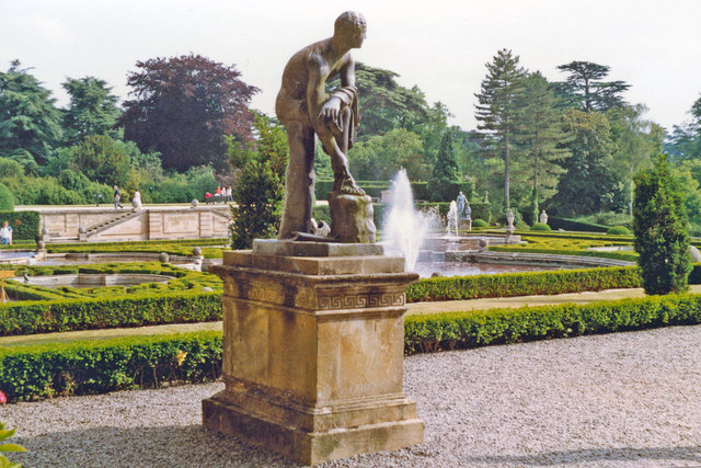 Blenheim Palace, formal gardens 1989