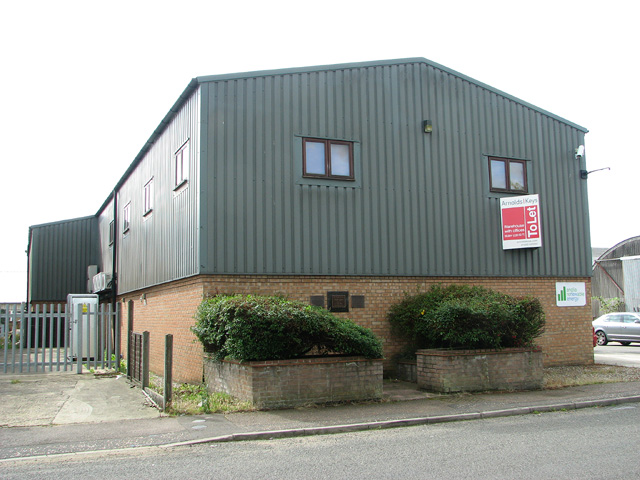 Industrial building on the Rackheath Industrial Estate
