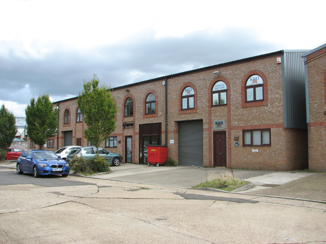 Industrial building on the Rackheath Industrial Estate