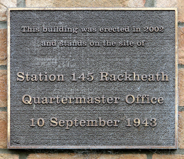 Plaque on an industrial building
