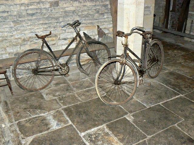 Ladies' push-bikes beneath Chastleton House, Chastleton, Oxfordshire