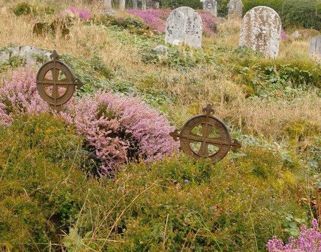 Cast-iron 'headstones', Holmbury St Mary
