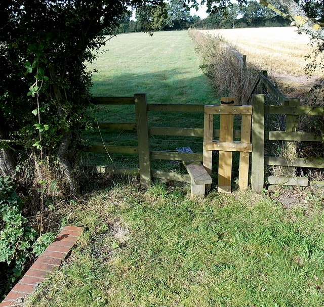 Stile to a field track, Cadeby