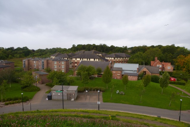 Looking down on Ustinov College