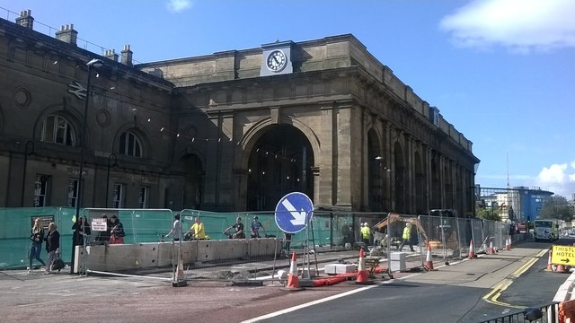 Newcastle Central station: main entrance
