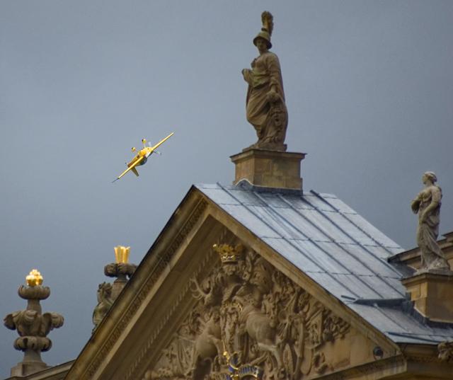 Aerobatics over Chatsworth House