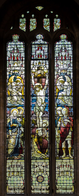 Stained glass window, St Mary's church, Ilminster