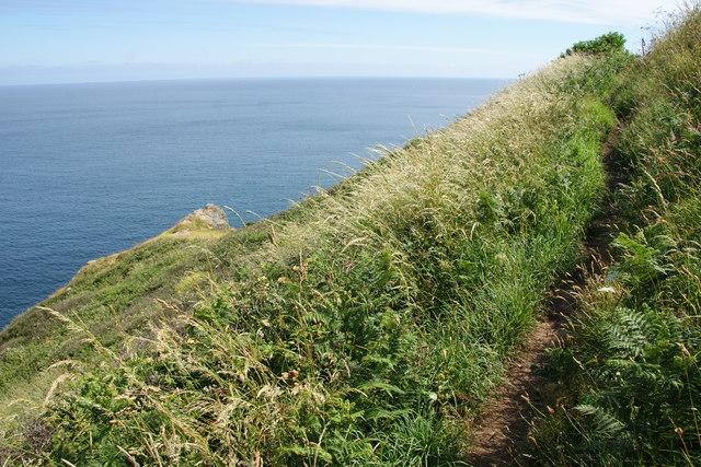 South West Coast Path above Chough's Ogo