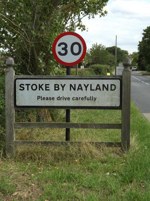 Stoke By Nayland Village Name sign