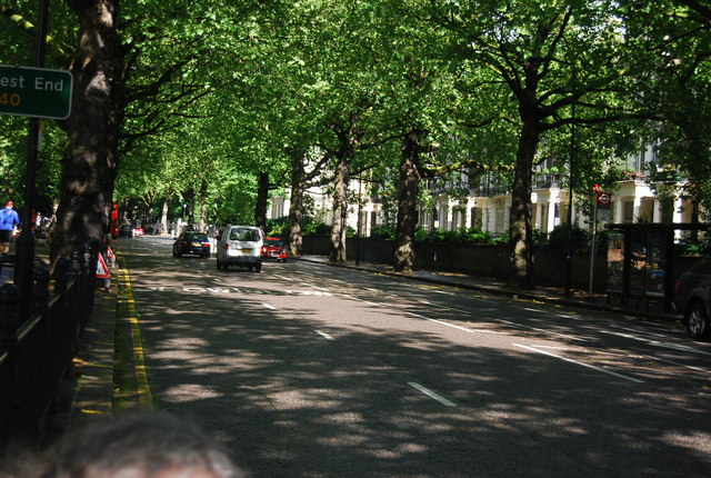 Tree lined Holland Park Avenue