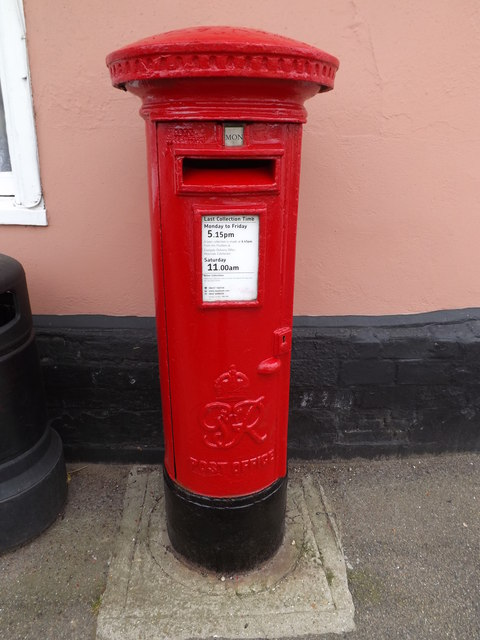Stoke By Nayland Post Office & George VI Postbox