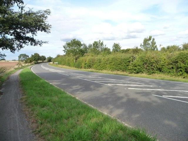 A former A road leaving Harvington