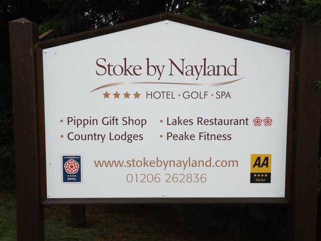 Stoke By Nayland Golf Club sign