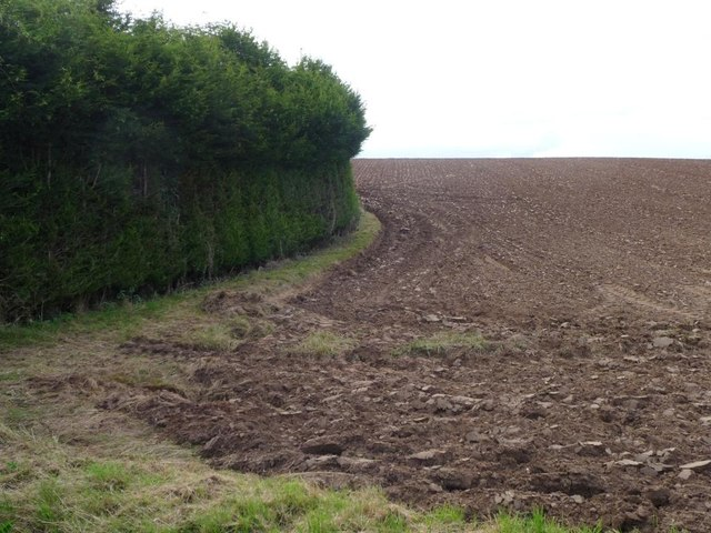 Ploughed field at the edge of Harvington