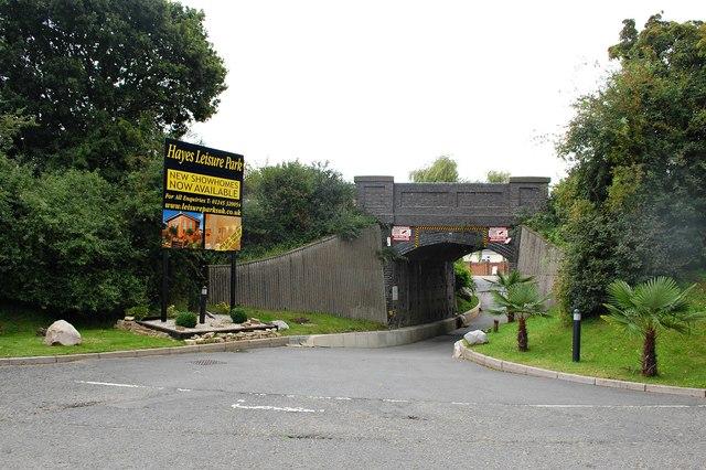 Railway bridge by the A132