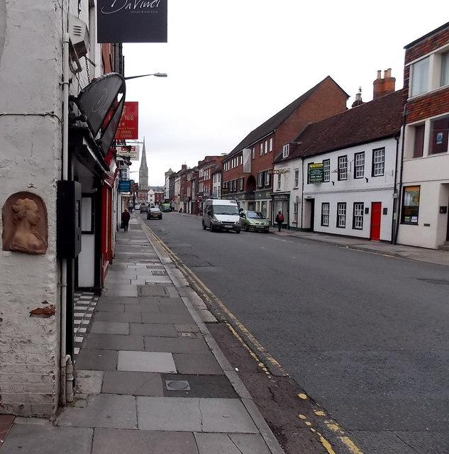 Artwork on a Castle Street wall, Salisbury