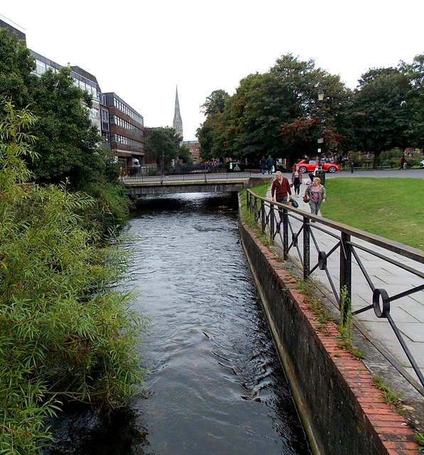 Avon between two bridges, Salisbury