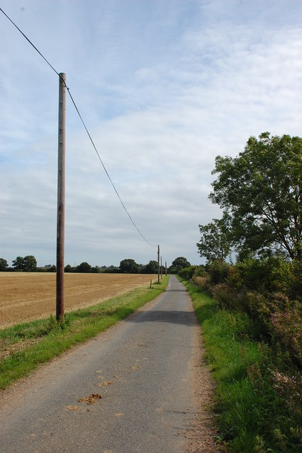 Lane east of Charity Farm