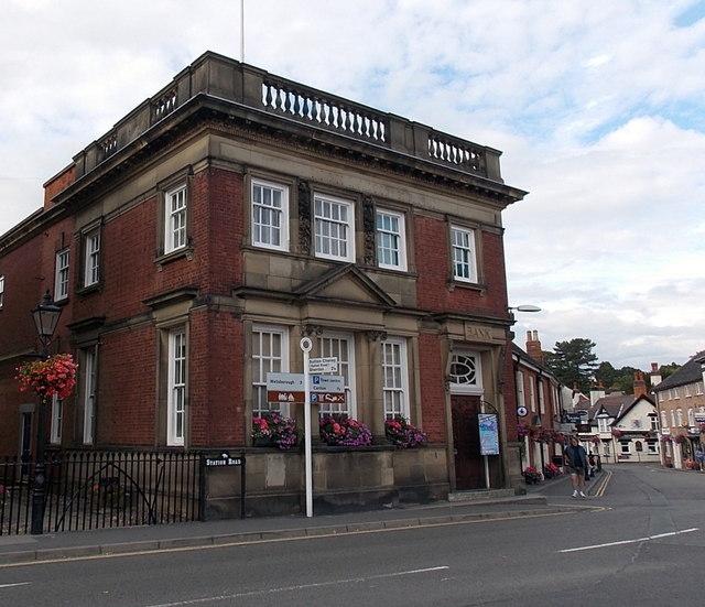 Former bank building in Market Bosworth