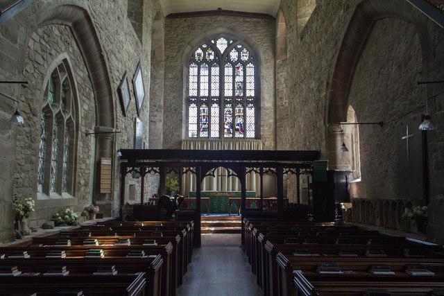 Interior, Little Malvern Priory