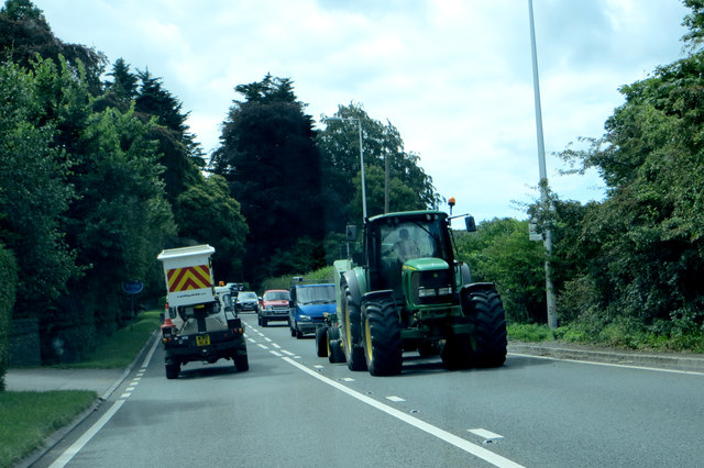 On the A38 near Sidcot