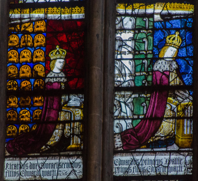 Detail, Stained glass window, N.XXXVIII, Canterbury Cathedral