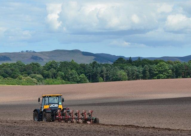 Ploughing near Cessford