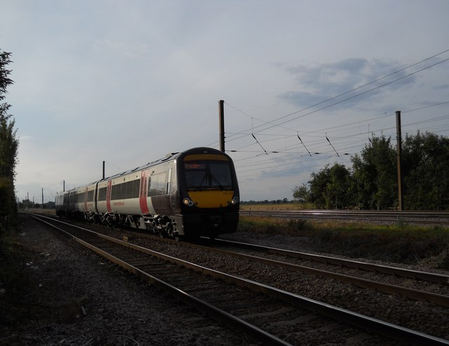 CrossCountry train at Helpston Crossing