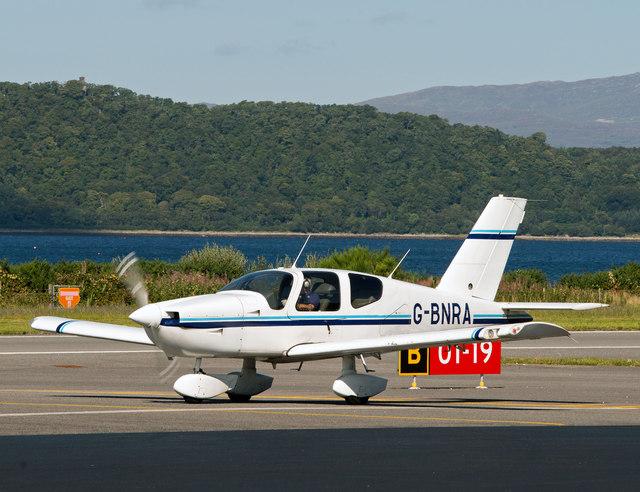 G-BNRA at Oban Airport