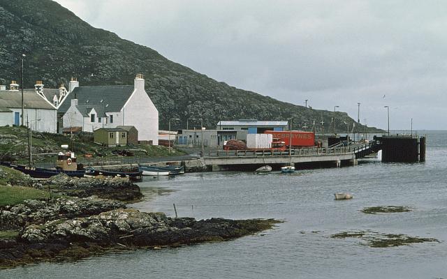 Lochboisdale ferry terminal in the 1970s
